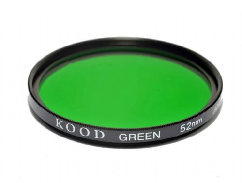 Kood High Quality Optical Glass Green Filter Made in Japan 52mm